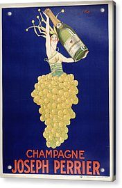 Champagne Acrylic Print by Vintage Images