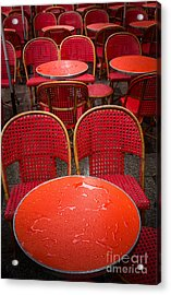 Champs Elysees Cafe Acrylic Print by Inge Johnsson
