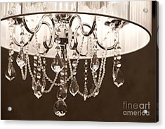 Acrylic Print featuring the photograph Chandelier by Aiolos Greek Collections