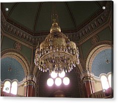 Chandelier Of Sofia Synagogue Acrylic Print