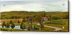 Acrylic Print featuring the photograph Chandler Hill Patio View by David Coblitz