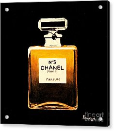 Chanel No. 5 Acrylic Print by Alacoque Doyle