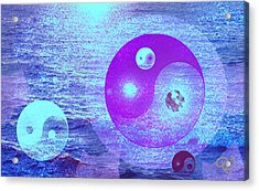 Changing Currents Of Reality Acrylic Print by Ute Posegga-Rudel
