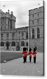 Changing Of The Guard At Windsor Castle Acrylic Print by Lisa Knechtel