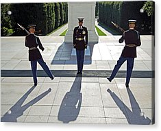 Acrylic Print featuring the photograph Changing Of The Guard by Cora Wandel