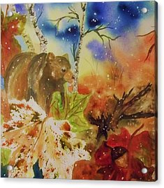 Changing Of The Seasons - Square Format Acrylic Print by Ellen Levinson