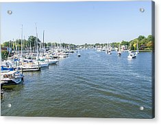 Channel Down Spa Creek Acrylic Print by Charles Kraus