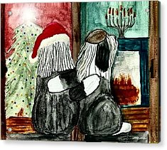 Chanukah Christmas Friends Acrylic Print