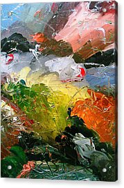 Acrylic Print featuring the painting Chaotic Composition by Ray Khalife