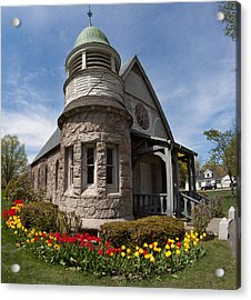 Chapel At Laurel Hill Cemetery Acrylic Print