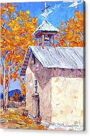 Chapel At Ojo Claiente Acrylic Print by Steven Boone