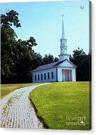 Chapel At The Wayside Inn Acrylic Print by Desiree Paquette
