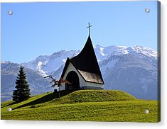 Chapel In The Alps Acrylic Print