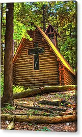 Chapel In The Pines Acrylic Print
