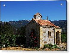 Chapel In The Vineyard Acrylic Print by Mel Steinhauer