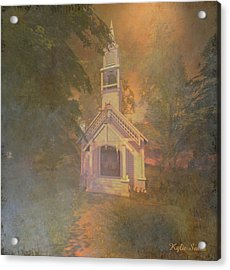 Chapel In The Wood Acrylic Print by Kylie Sabra