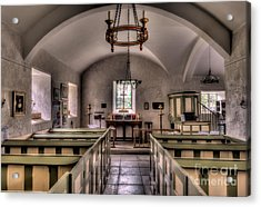 Chapel In Wales Acrylic Print by Adrian Evans