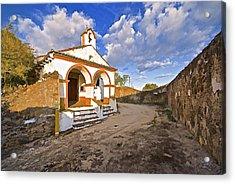 Chapel Of Castelo De Vide Acrylic Print by David Letts