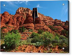 Chapel Of The Holy Cross Acrylic Print by Dany Lison