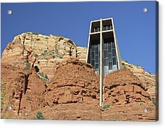 Acrylic Print featuring the photograph Chapel Of The Holy Cross by Penny Meyers