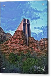 Chapel Of The Holy Cross - Sedona Arizona Acrylic Print by Gregory Dyer