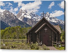 Chapel Of The Transfiguration - Grand Teton National Park Wyoming Acrylic Print by Brian Harig