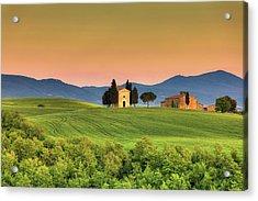 Chapel Of Vitaleta In Tuscany, Val Acrylic Print by Zodebala