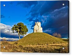 Chapel On Green Hill Nin Dalmatia Acrylic Print