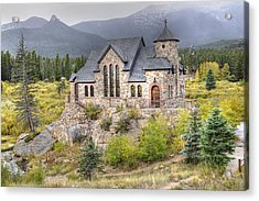 Chapel On The Rock - St Malo Center Acrylic Print