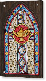Chapel Window Acrylic Print