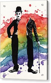 Chaplin Acrylic Print by Kelly Jade King