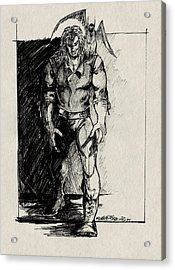 Character Sketch Acrylic Print