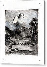 Charcoal Hills Acrylic Print