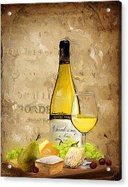 Chardonnay Iv Acrylic Print by Lourry Legarde