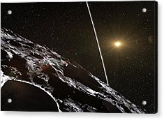 Chariklo Minor Planet And Rings Acrylic Print by European Southern Observatory