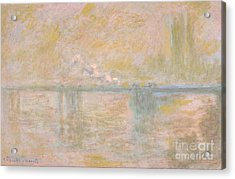 Charing Cross Bridge 1899-01 Acrylic Print by Claude Monet