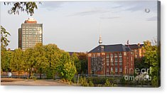 Acrylic Print featuring the photograph Charite And Alexanderturm In Berlin by Art Photography