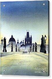 Charles Bridge Acrylic Print by Bill Holkham