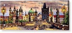 Charles Bridge Acrylic Print by Dmitry Koptevskiy