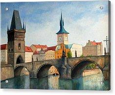 Charles Bridge Acrylic Print by Igal Kogan