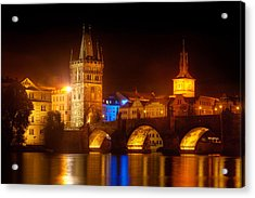 Charles Bridge II- Prague Acrylic Print by John Galbo