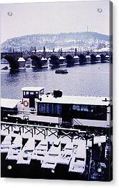 Charles Bridge In Winter Acrylic Print by Alexander Kurganov