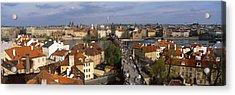 Charles Bridge Moldau River Prague Acrylic Print by Panoramic Images