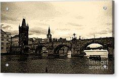 Charles Bridge Acrylic Print by Petr Taborsky
