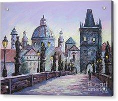 Charles Bridge  Prague Acrylic Print by John Clark