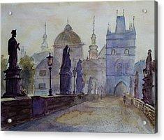 Charles Bridge Prague Acrylic Print by Xueling Zou