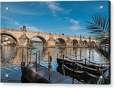 Charles Bridge Acrylic Print by Sergey Simanovsky