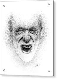 Charles Bukowski Acrylic Print by Christian Klute