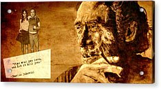 Charles Bukowski - The Love Version Acrylic Print by Richard Tito