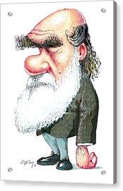 Charles Darwin Acrylic Print by Gary Brown